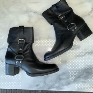 Harley Davidson Black Leather Motorcycle Boots 7